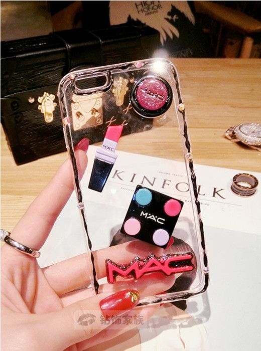 modisches mdchen silikon transparente handyhlle mit cream make up muster fr iphone66s - Handyhullen Muster