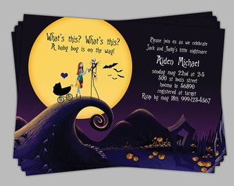 Nightmare Before Christmas Baby Shower Invitation Baby