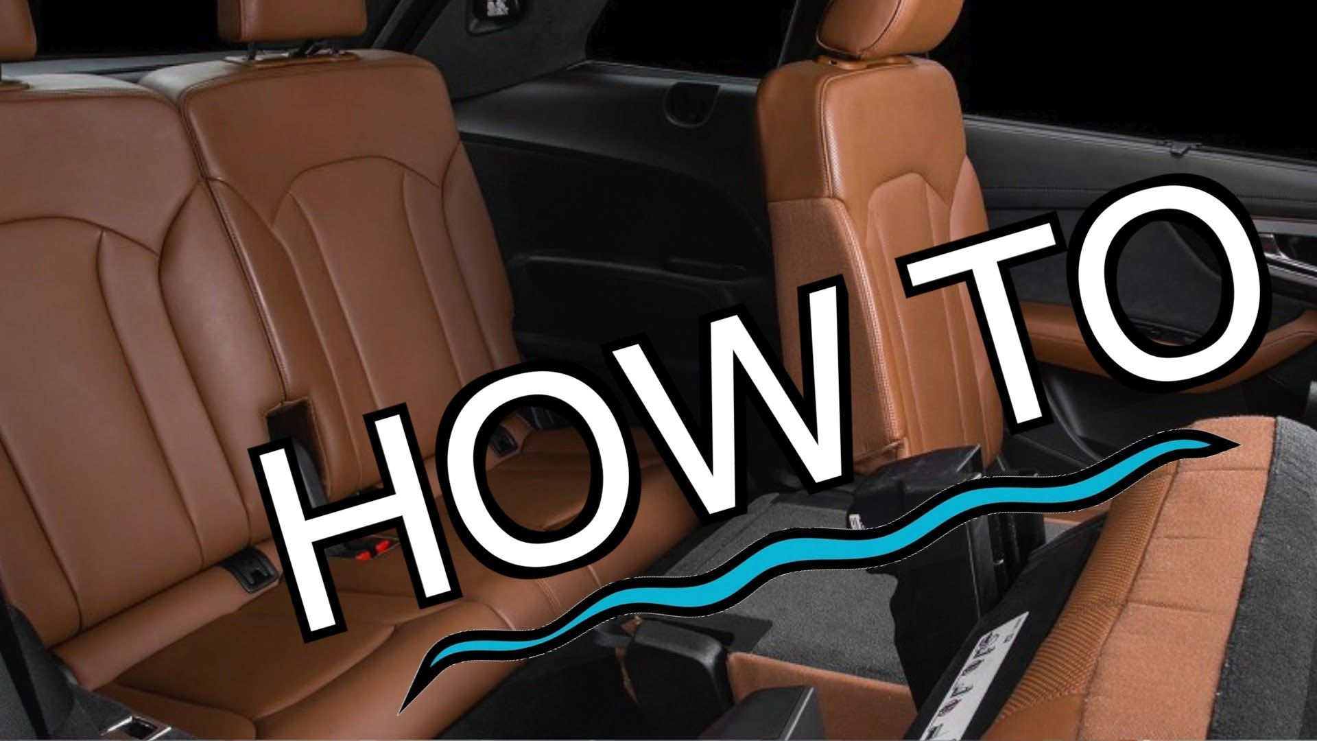 Audi Q7 Tutorial How To Access Rear Seat 3rd Row Audi Q7 Rear Seat Youtube