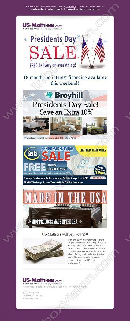 Company Us Mattress Subject Presidents Day Sale Starts Today