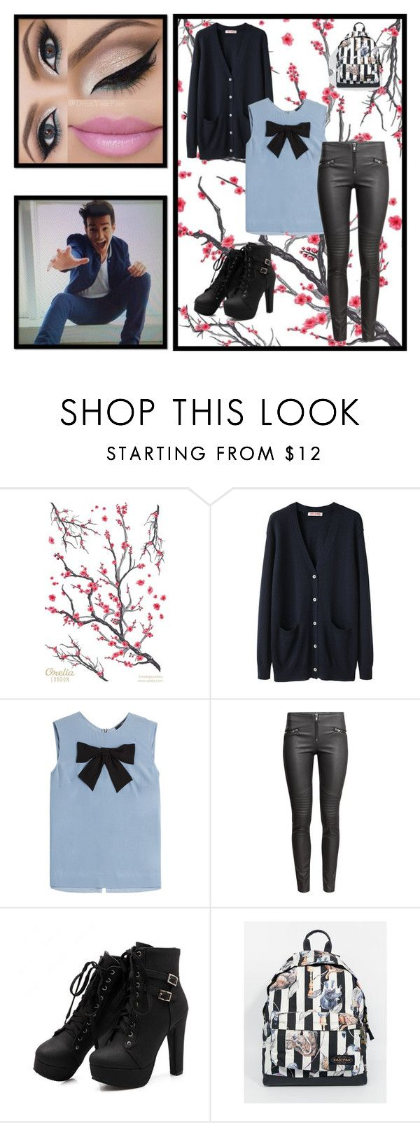 """Wanted"" by believeinunicorns-137 ❤ liked on Polyvore featuring moda, Topshop, Organic by John Patrick, Steffen Schraut, H&M y Eastpak"