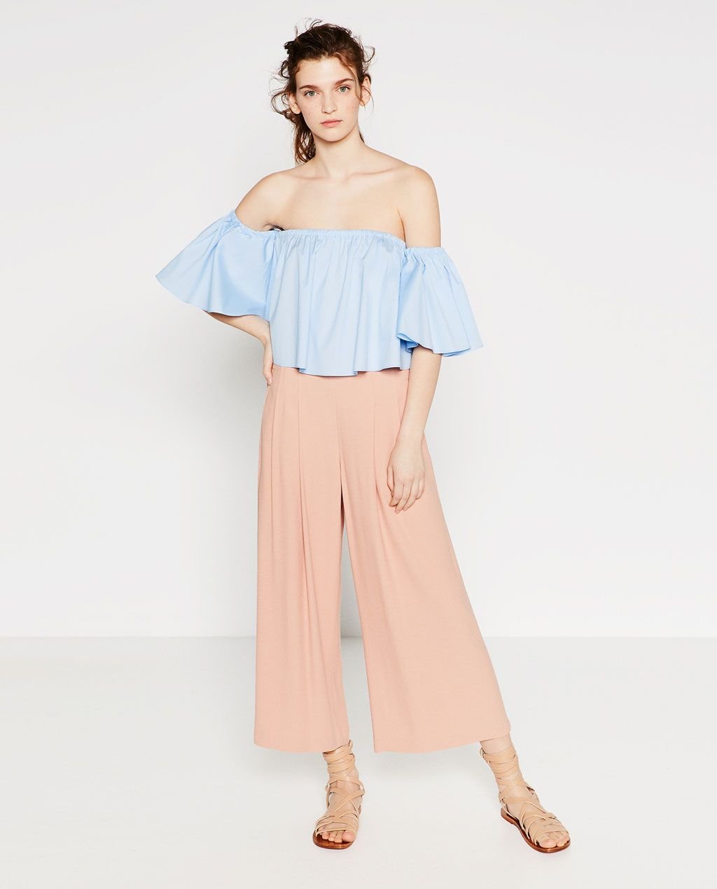 0c9a584153dd Image 1 of FLOWING CULOTTES from Zara