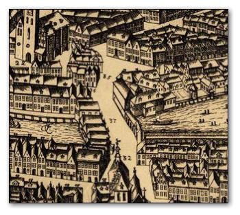 Stadtansicht, Mühlendamm, 1688