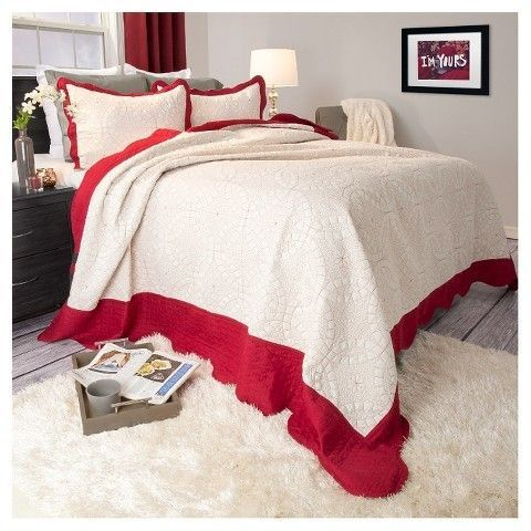 Yorkshire Home Lydia Embroidered Quilt Set - Yorkshire Home® - $20.96