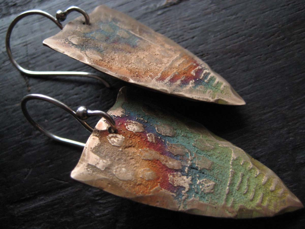 bronze earrings- celie fago