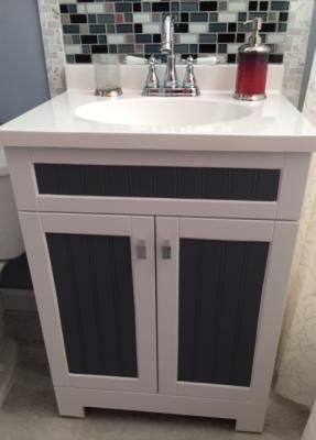 Shop Style Selections Ellenbee White Integral Single Sink Bathroom Vanity With Cultured Ma Single Sink Bathroom Vanity Bathroom Vanity Bathroom Vanity Makeover