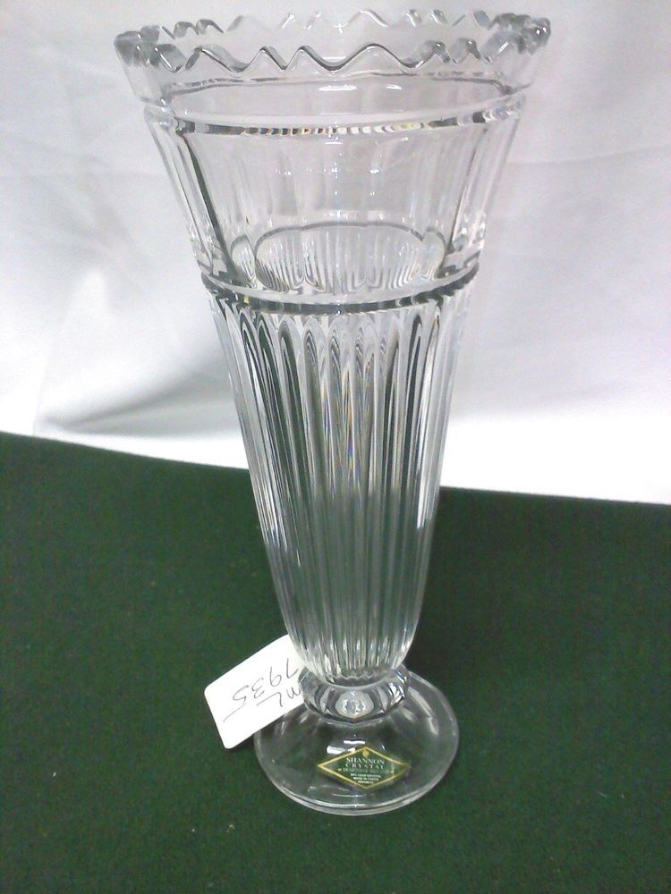 Shannon Crystal Designs Of Ireland 24 Lead Crystal Vase Glass