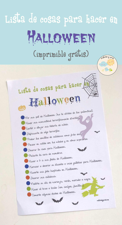 De La Lista De Cosas Para Hacer En Halloween Contras Y Pros Juegos De Halloween Para Niños Actividades De Halloween Halloween