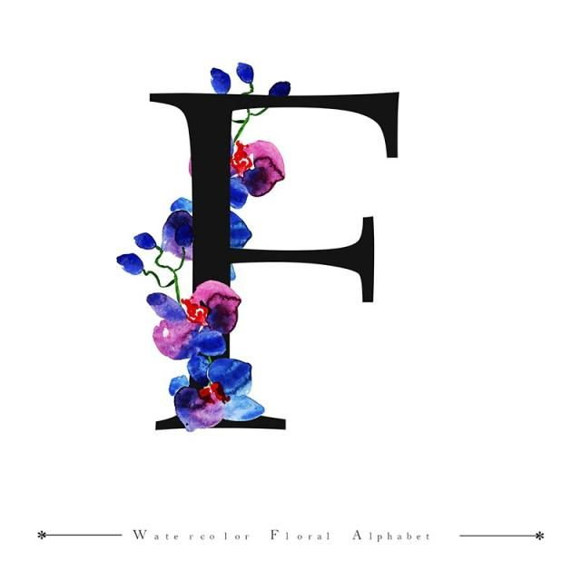 F Alphabet Letter Watercolor Floral Background Watercolor Color Floral Png And Vector With Transparent Background For Free Download Lettering Alphabet Floral Background Alphabet Images