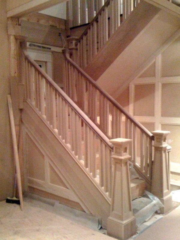 Brandnewell Designs: Newel Post Wood Stairs #stairs Pinned By Www.modlar.com