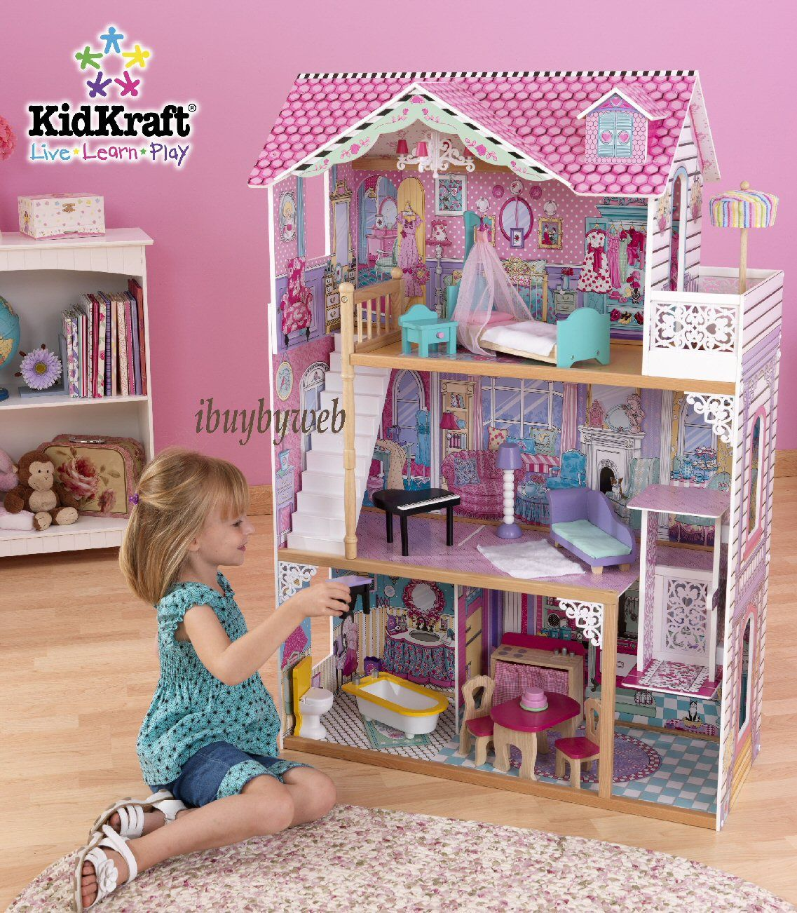 Exceptional Large Doll Houses | KidKraft Annabelle Dollhouse Large Fashion Doll House |  EBay