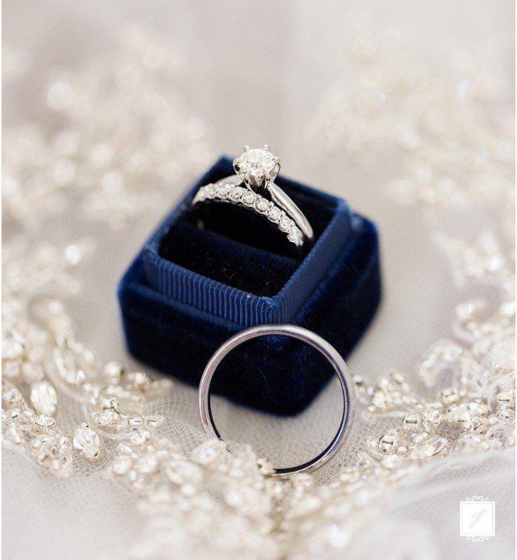 Engagement Ring Box, Navy Ring Box, Blue Ring Box