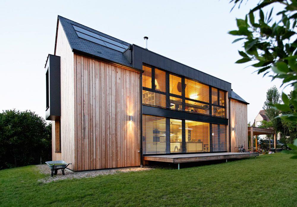 Logements individuels sacet bourgogne ossature bois construction de maison - Maison basse consommation ...