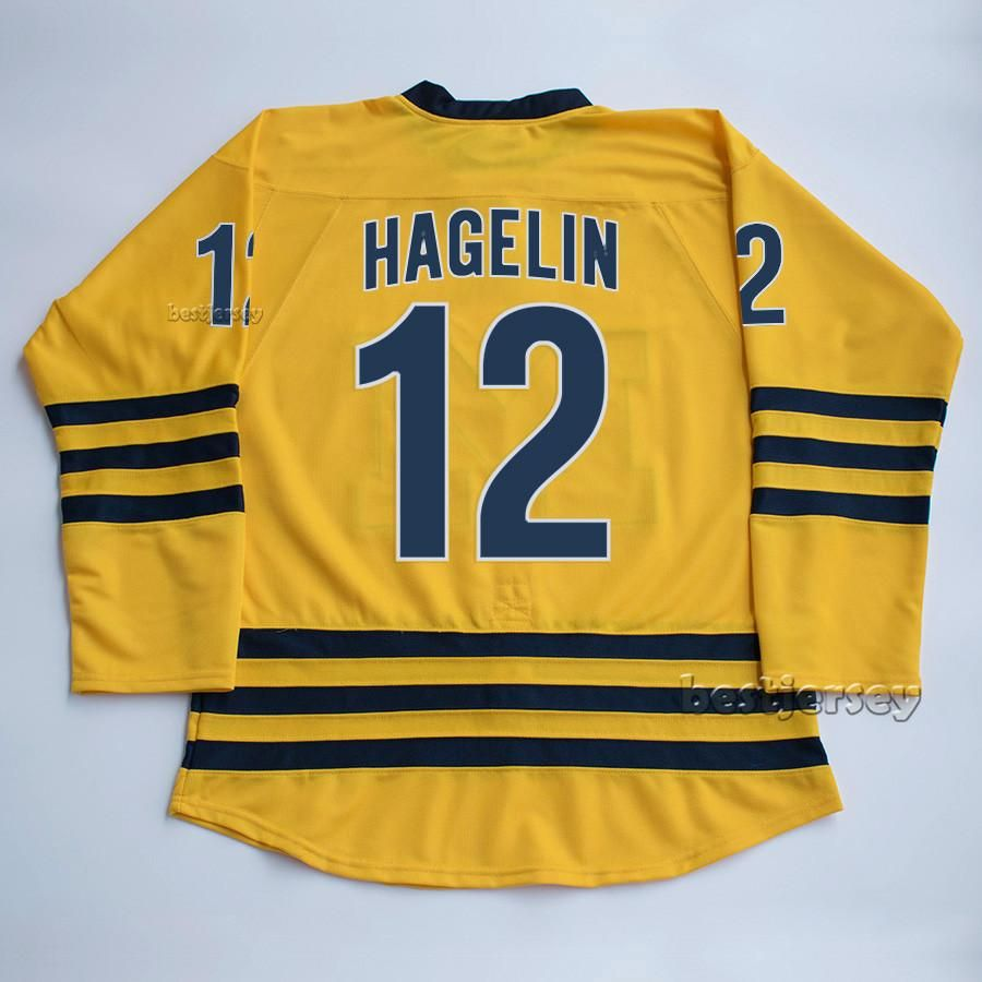 quality design 4955e f372e Carl Hagelin #12 University of Michigan Wolverines Stitched ...
