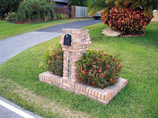 Brick Mailbox 4 Mailbox Landscaping Brick Mailbox Mailbox Garden