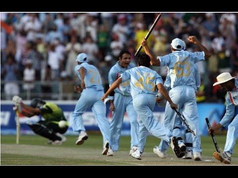 India Vs Pakistan T20 World Cup 2007 Full Match Highlights Final India Vs Pakistan Team Wallpaper Cricket Teams