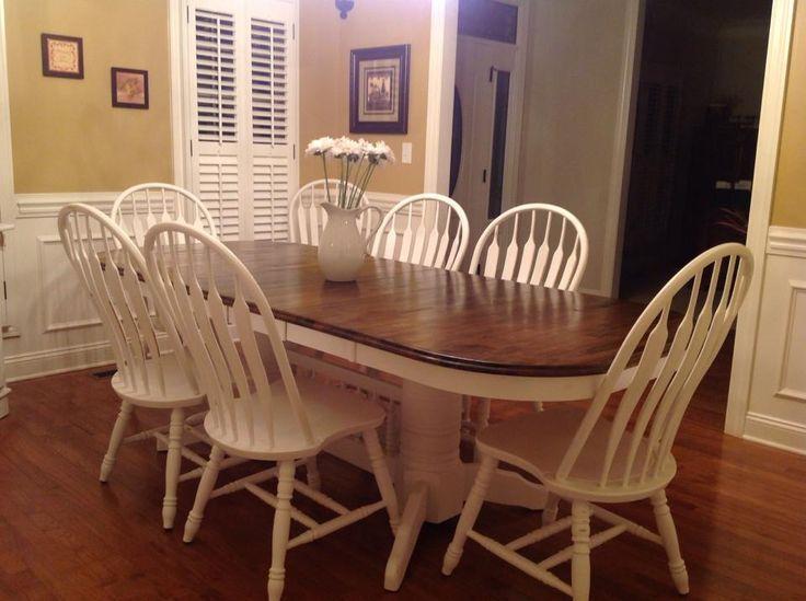Dark Walnut Stain White Chalk Paint And Dinning Room Tables On Adorable Chalk Paint Dining Room Chairs 2018