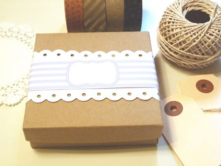 Lavender Wrapping Bands: FREE PRINTABLE