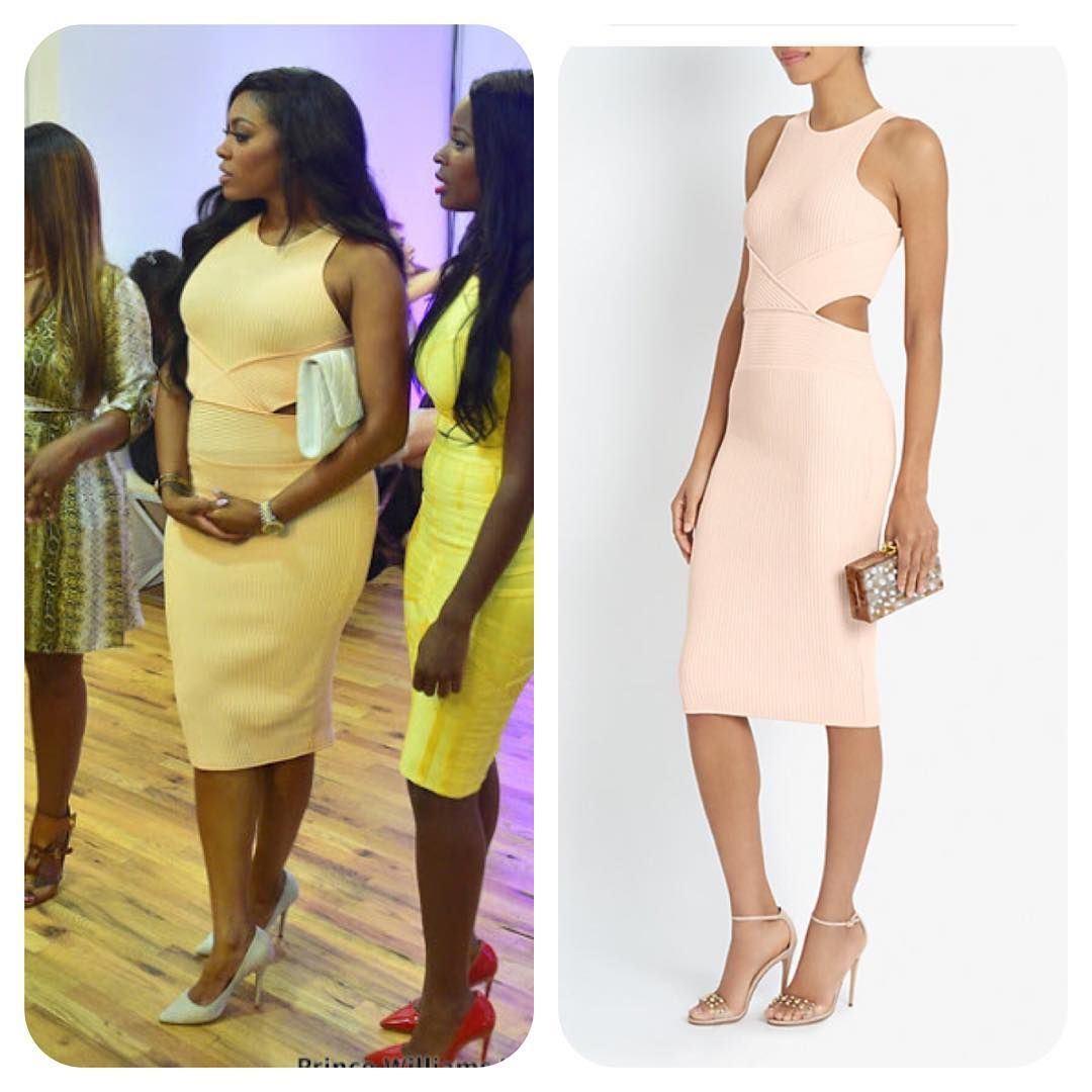 #PorshaWilliams' #Blush #CutOut Dress #RHOA