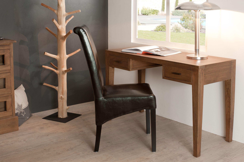 Bureau bois exotique canelle tiroirs louna en bureaux home