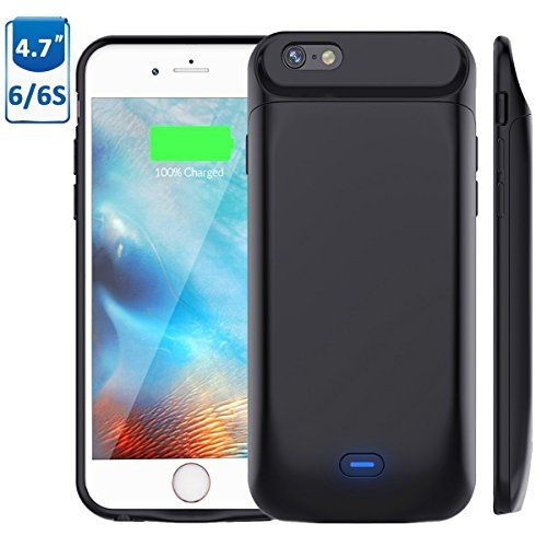 6673182a532 iPhone 6s/6 Battery Case, Stoon 5000mAh Portable Charger Case Rechargeable  Extended Battery Pack