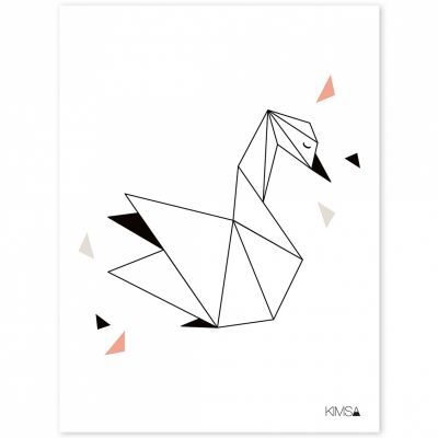 Photo of Affiche cygne Origami play by Claudia Soria (30 x 40 cm)