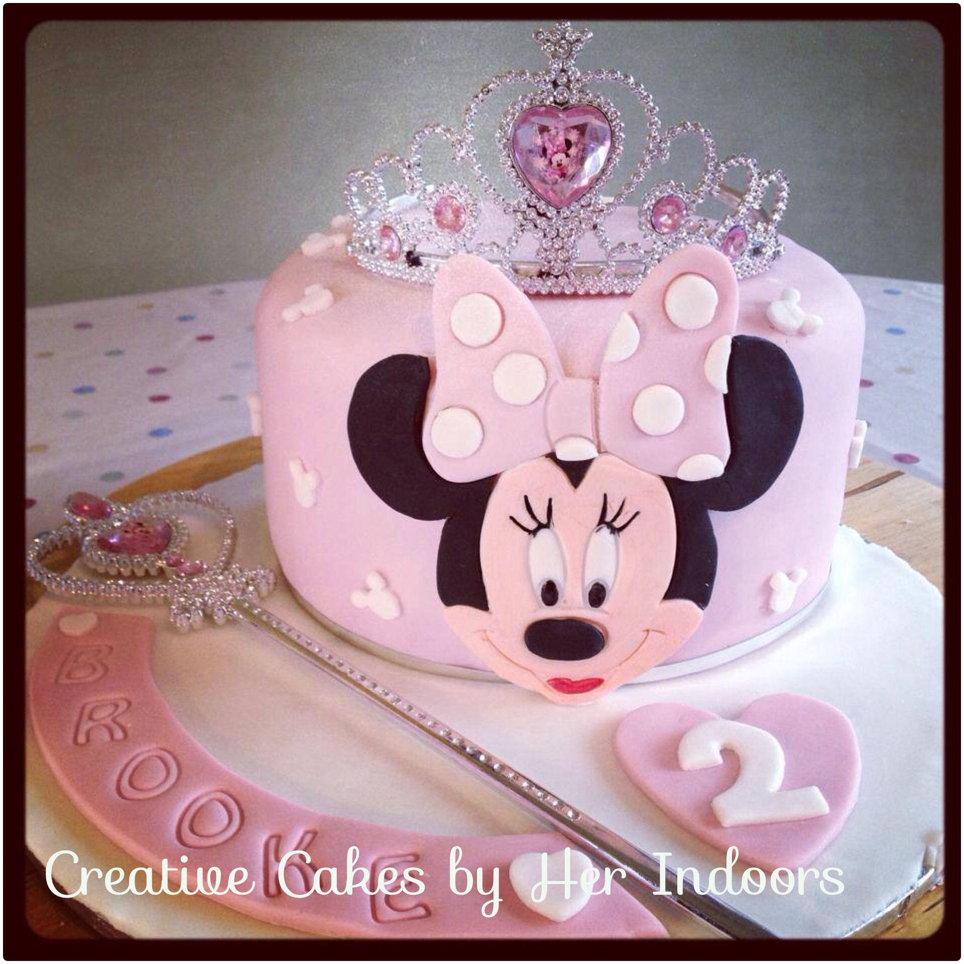 Minnie Mouse Tiara Cake