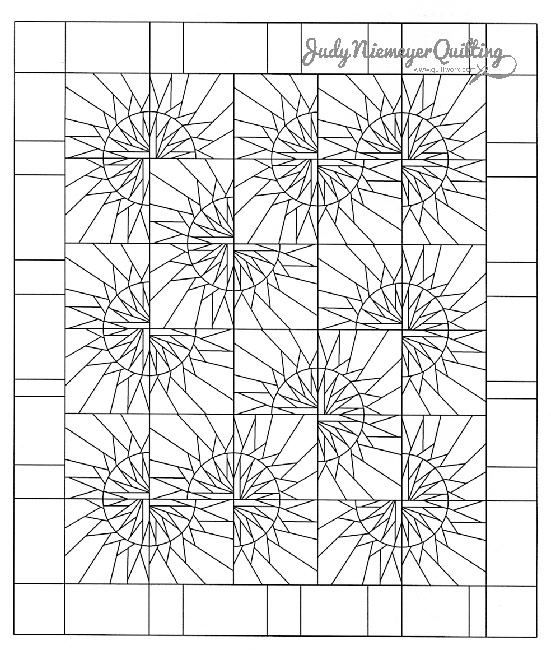 Sunflower Illusions Line Drawing, Quiltworx.com, Made by ...Quilt Drawing