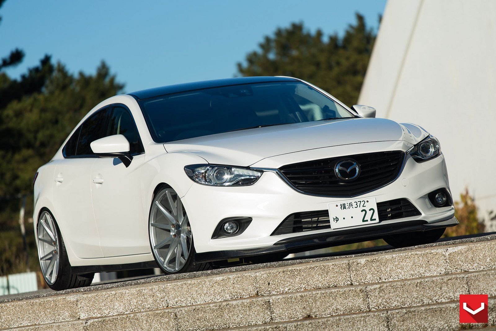 cars vossen tuning wheels mazda 6 white wallpaper. Black Bedroom Furniture Sets. Home Design Ideas