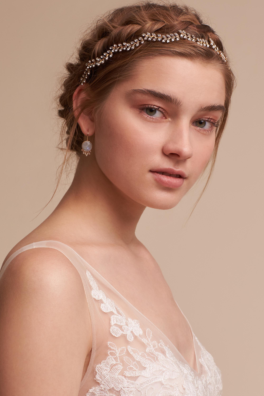 Blossoming vine headband simple wedding hairstyles vine