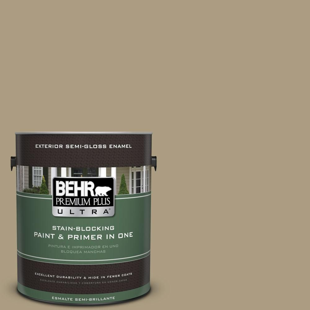 BEHR Premium Plus Ultra 1-gal. #bnc-16 Winter Sage Semi-Gloss Enamel Exterior Paint