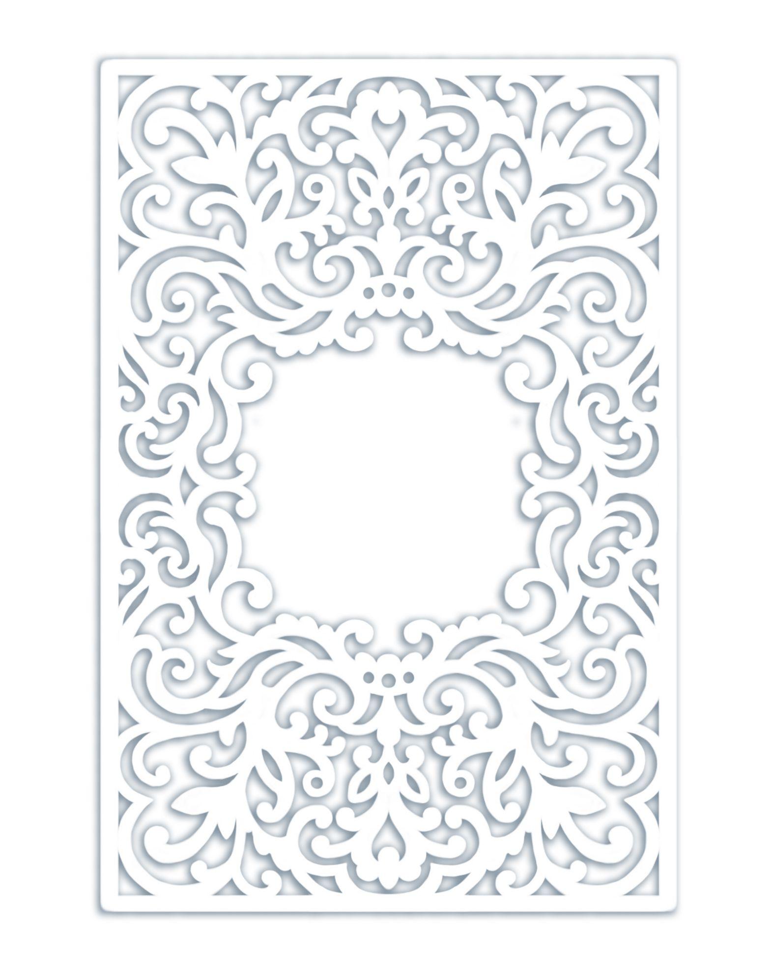 Wedding Invitation Pocket Frame Envelope / Half fold card 5x7 SVG ...