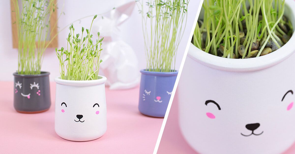 atelier pots kawaii l 39 atelier du mercredi c monetiquette pinterest pots de yaourt terre. Black Bedroom Furniture Sets. Home Design Ideas