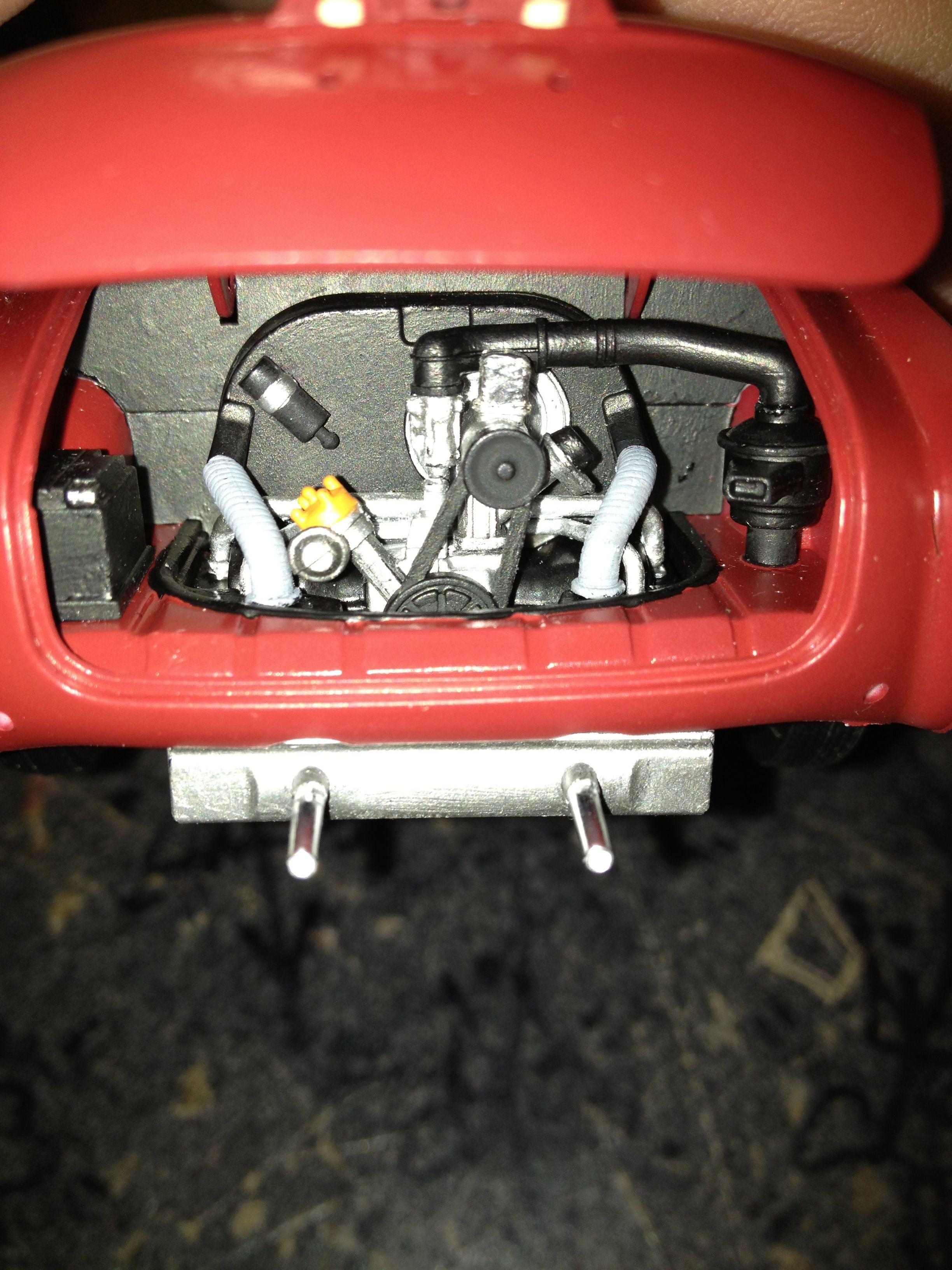 Engine compartment - 1966 VW Karmann Ghia