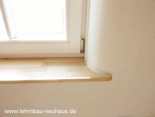 Fensterbrett - Laibung gerundet - Wandheizung mit Lehmputz - 63526 ...