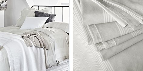 Buy Monmouth Stripe Bed Linen Collection   From The White Company