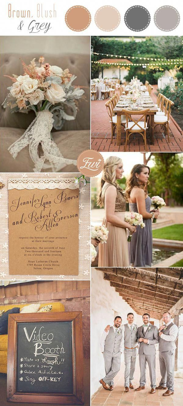 brown taupe and grey rustic fall wedding colors  Dream Wedding
