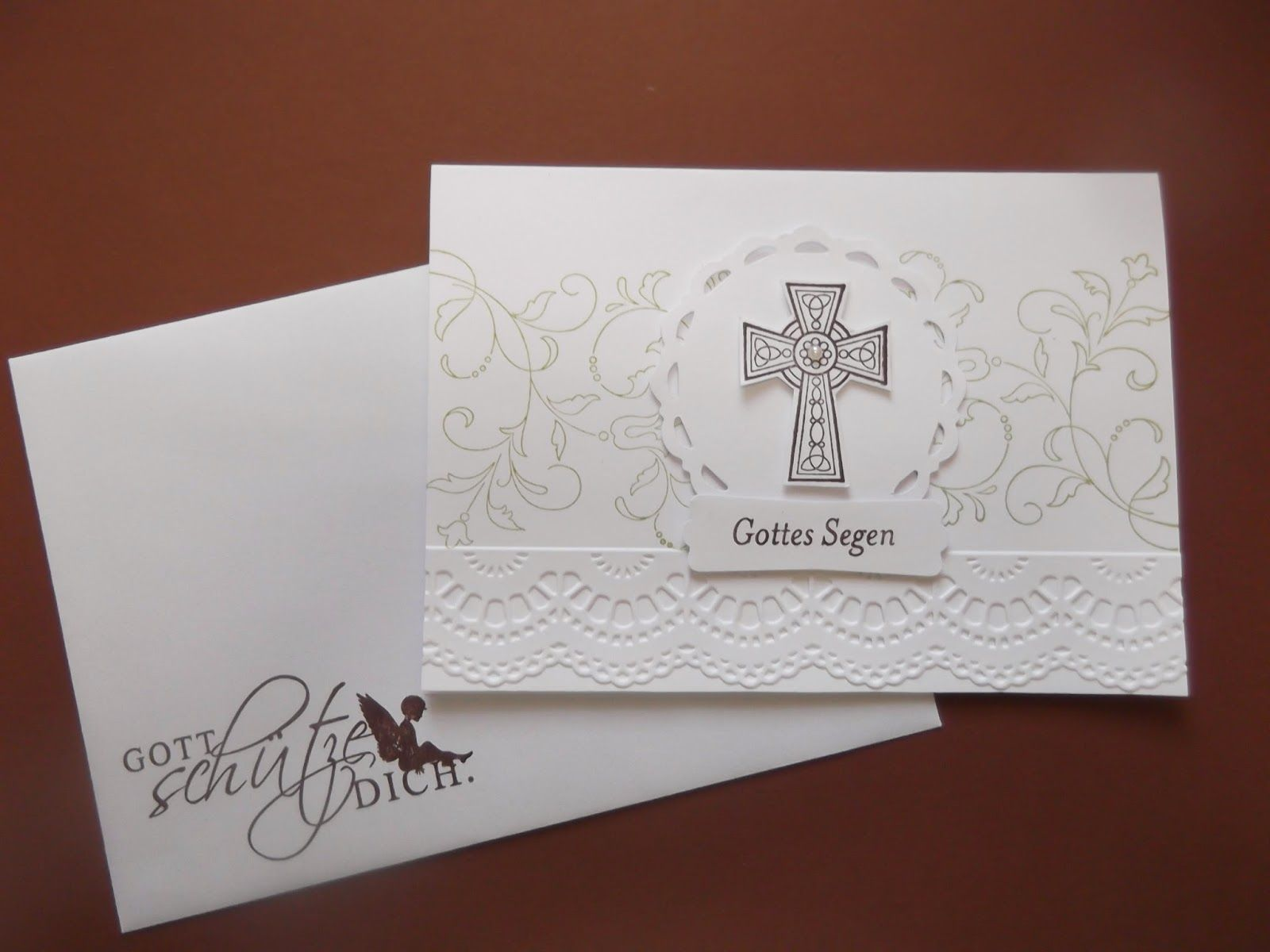 Sconebeker Stempelscheune - Stampin up Sets : Kreative Elemente, Crosses of Hope, Segenswünsche