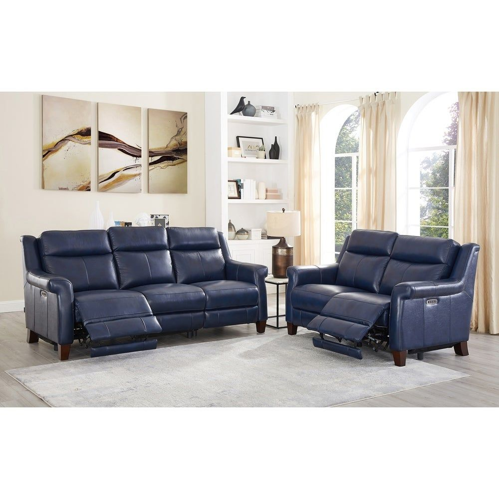 Best Nesco Leather Power Reclining Sofa And Loveseat Set With 640 x 480