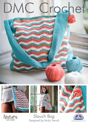 DMC - Slouch bag - FREE download, wow, thanks so xox | Crocheting ...