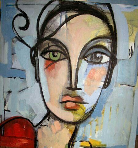 J Aime Portrait Abstrait Peinture Abstraite Toile Abstraite