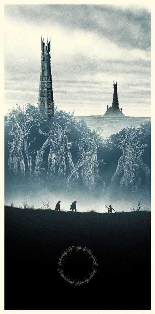 18e65f92e Posters incríveis que resumem a história do Senhor dos Anéis de forma épica!  - Fail Wars   Fail Wars