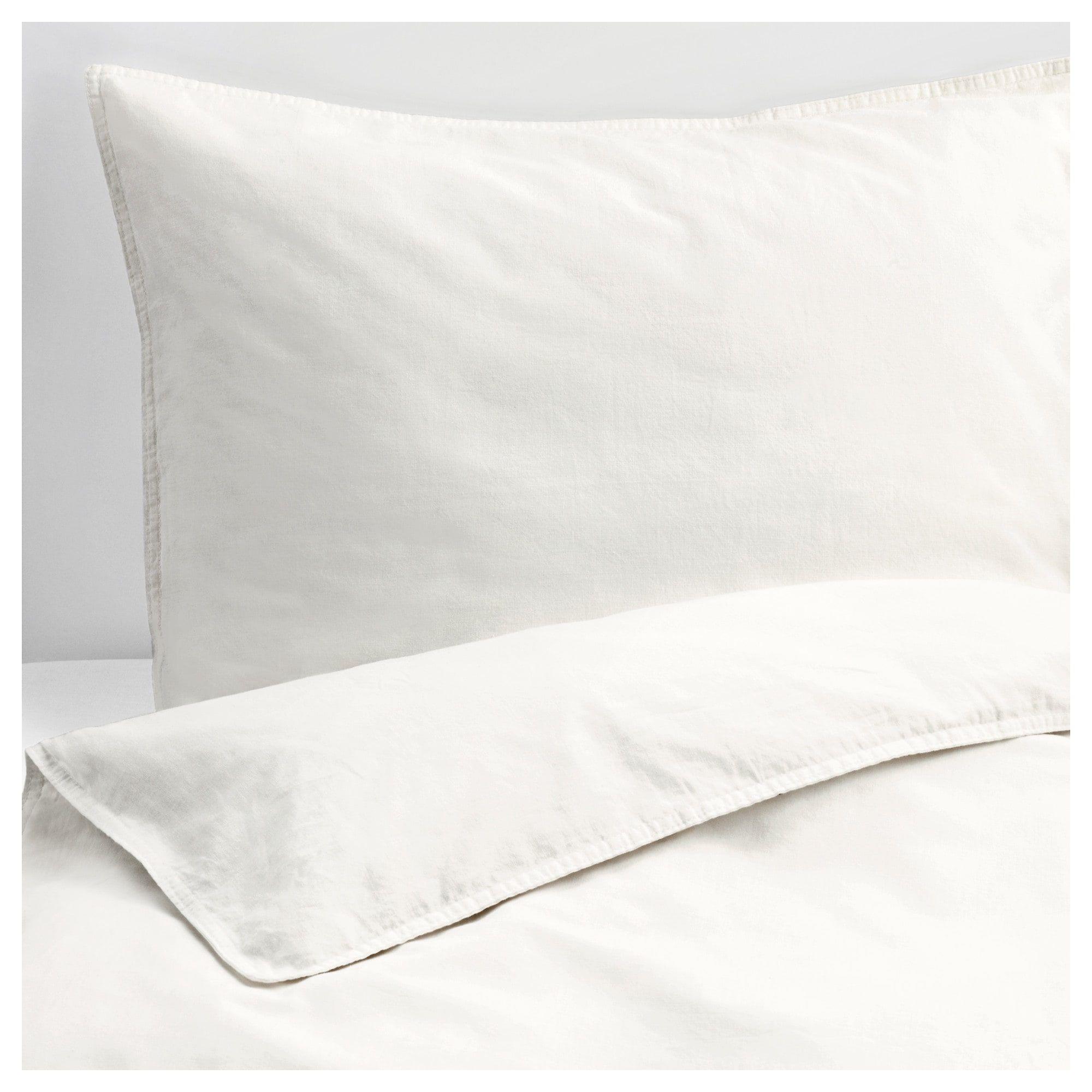Angslilja Duvet Cover And Pillowcase S White King Ikea Bed
