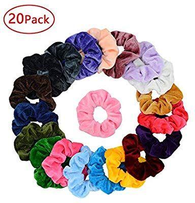Amazon.com   Simnice 20 Pcs Velvet Hair Scrunchies Elastic Hair Bands  Scrunchy Hair Ties Ropes Scrunchie for Women or Girls Hair Accessories - 20  Assorted ... fe8626487db