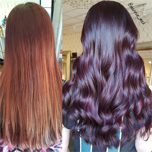 MAKEOVER: Faded Cherry To Vibrant Violet - Hair Color - Modern Salon