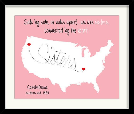 Personalized Long Distance Maps Custom Art Print By