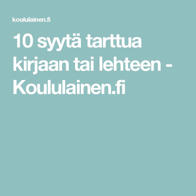 10 syytä tarttua kirjaan tai lehteen - Koululainen.fi