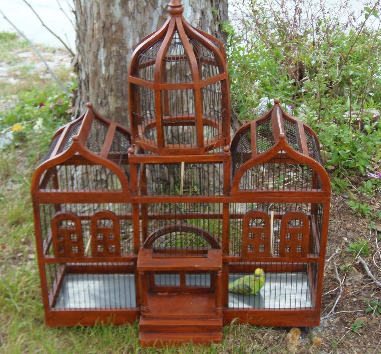 Large Custom Wooden Bird Cages | Bird Cages | Antique bird