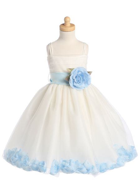 aacecaf4 So cute! Little flower girl dress. :) we are having 2 flower girls i'd love  to have one in blue and one in brown!