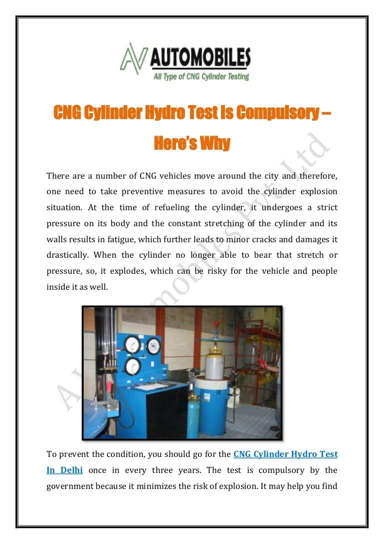 Pin on CNG Cylinder Hydro Test Service In Delhi